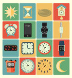 Time icons set Royalty Free Stock Photography