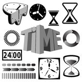 Time icons and symbols Stock Photography
