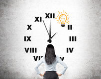 Time and idea Stock Photography