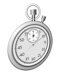 Time illustration Stock Photography