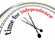 Time for Independence Clock Go Alone Self Employed Stock Images