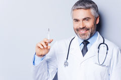 Time for injection! Stock Photography
