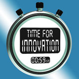 Time For Innovation Means Creative Development And Ingenuity Stock Photo