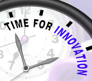 Time For Innovation Shows Creative Development And Ingenuity Royalty Free Stock Photography