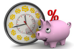 Time - interest on bank deposits. Financial concept Royalty Free Stock Image