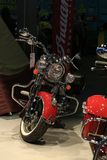 Red and chrome. Motorcycle Indian Chief Classic 2015 red royalty free stock photo