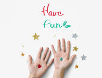Time for Invitation Greeting Be Happy and Smile Celebration Conc Royalty Free Stock Photo