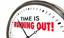 Free Time Is Running Out Clock Deadline Ending Soon Stock Photography - 93382902