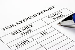 Time Keeping Report Royalty Free Stock Photo
