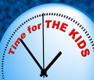 Time For Kids Represents Just Now And Child Royalty Free Stock Photo