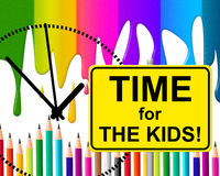 Time For Kids Represents At The Moment And Childhood Stock Photo