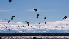 Time Kiteboarding stock footage