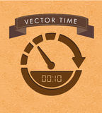 Time label. Over vintage background vector illustration vector illustration