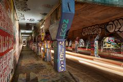 Time Lapes Krog Street Tunnel of Atlanta GA. Time Lapes Krog Street Tunnel of Atlanta, GA Royalty Free Stock Photo
