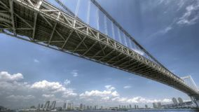 Time laps bridge stock video footage