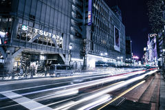 Time Laps Photograph of City at Night Stock Photo