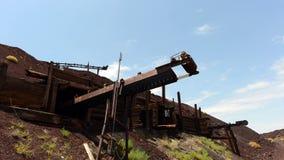 Time Lapse of Abandon Mine Daytime - 4k stock footage