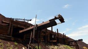 Time Lapse of Abandon Mine Daytime - 4k stock video