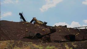 Time Lapse of Abandon Mine Daytime - 4k stock video footage