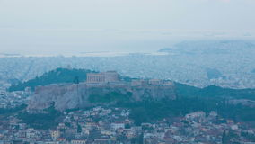 Time lapse of Acropolis and Athens city, Greece stock video