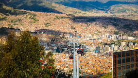 Time lapse of  aerial view of Lapaz stock footage