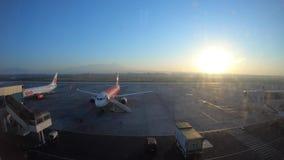 Time Lapse Air Plane take off stock video