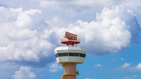 Time Lapse Airport Radar Communications Tower. (zoom out stock video footage