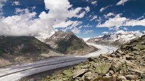 Time lapse Aletsch glacier stock video footage