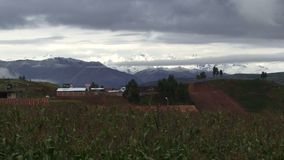 Time lapse of the Andes mountains stock video