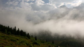 Time lapse of approaching fog in a valley of Anatolia stock video footage