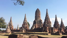 Time Lapse of archaeological site at Wat Chaiwatthanaram stock video footage