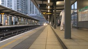 Time lapse. Arriving by train at the station. stock footage