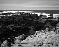 Time Lapse Asilomar State Marine Reserve. Soft focus slow shutter speed Asilomar State Marine Reserve California Royalty Free Stock Photography