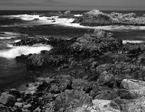 Time Lapse Asilomar State Marine Reserve. Soft focus slow shutter speed Asilomar State Marine Reserve California Stock Photography