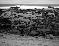 Time Lapse Asilomar State Marine Reserve. Soft focus slow shutter speed Asilomar State Marine Reserve California Stock Images