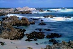 Time Lapse Asilomar State Marine Reserve. Soft focus slow shutter speed Asilomar State Marine Reserve California Royalty Free Stock Image