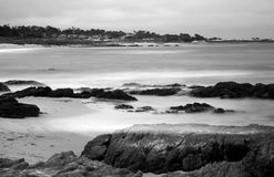 Time Lapse Asilomar State Marine Reserve. Soft focus slow shutter speed Asilomar State Marine Reserve California Royalty Free Stock Images