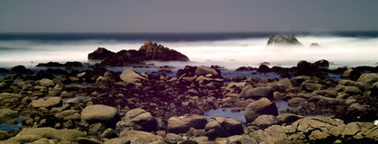 Time Lapse Asilomar State Marine Reserve. Soft focus slow shutterspeed Asilomar State Marine Reserve California Stock Images
