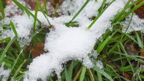 Time Lapse av smältande snö lager videofilmer