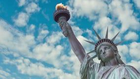 Time Lapse av statyn av frihet USA lager videofilmer