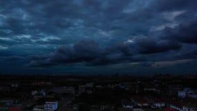 Time-lapse Bangkok skyline stock video footage
