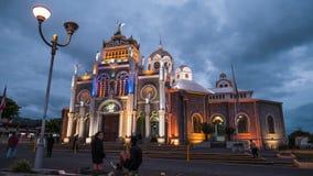 Time lapse of the Basilica de Nuestra Senora de los Angeles stock video footage
