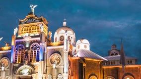 Time lapse of the Basilica de Nuestra Senora de los Angeles stock footage