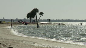 Time Lapse of Beach and Windsurfers - Clip 2. Time Lapse of  Beach and windsurfers in Fort Myers, Florida.  Shot with a Sony EX3 stock footage