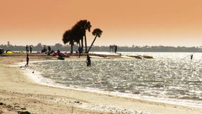 Time Lapse of Beach and Windsurfers - Clip 1. Time Lapse of  Beach and windsurfers in Fort Myers, Florida.  Shot with a Sony EX3 stock video