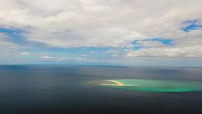 Tropical island with sandy beach, Time lapse. Camiguin, Philippines stock footage