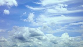 Time lapse beautiful blue sky with clouds background.Sky clouds.Sky with clouds weather nature cloud blue.Blue sky with clouds stock video footage