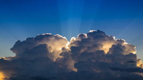 Time Lapse Beautiful Cloud Movement In The Sky And Sunlight stock video footage