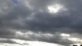 Time lapse. Beautiful clouds float across the sky. stock video footage