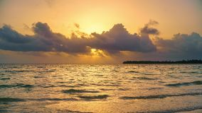 Time lapse of sunrise over ocean in Dominican Republic stock footage